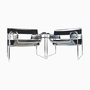 Bauhaus Wassily Chairs by Marcel Breuer for Knoll International, Set of 2