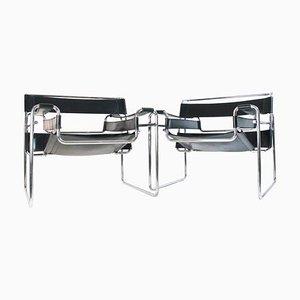 Bauhaus Wassily Stühle von Marcel Breuer für Knoll International, 2er Set