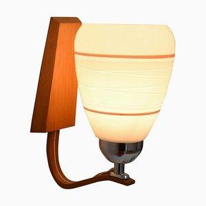 Hölzerne Wandlampe von Drevo Humpolec, 1970er