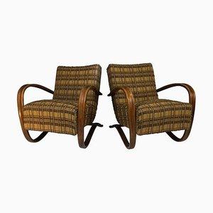 Art Deco H 269 Armchairs by Jindrich Halabala, 1940s, Set of 2