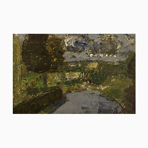Poul Ekelund, Dänemark, Öl auf Karton, Landschaft, 1960er