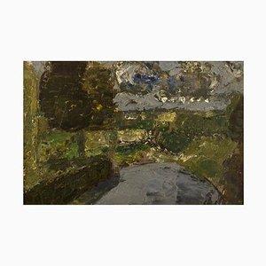 Poul Ekelund, Denmark, Oil on Board, Landscape, 1960s