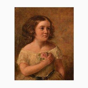 Charles James Lewis, Mädchenbildnis, England, Öl auf Leinwand