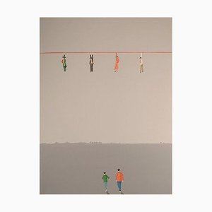 Jens Ulrich Petersen, Oil on Canvas, Men on String
