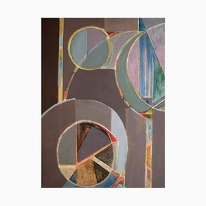 Bengt Nordquist, Abstract Composition, Sweden, Oil on Canvas, 1960s