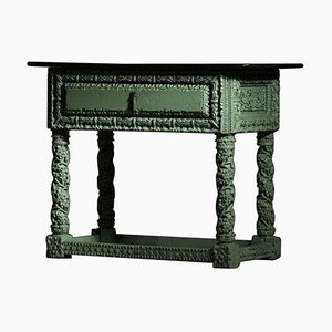 19th Century Console in Carved Wood