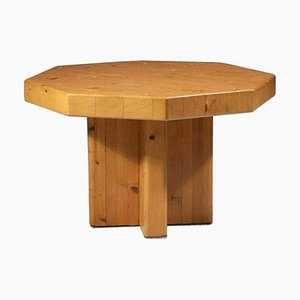 French Pine Coffee Table attributed to Charlotte Perriand, 1960s