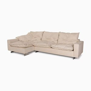 621 Marmara White Leather Sofa from WK Wohnen