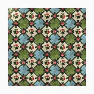 Glazed Art Nouveau Relief Tiles, Belgium, 1930s