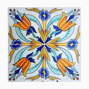 Handmade Antique Ceramic Tiles by Devres, France, 1910s