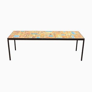 Large Rectangular Tile Coffee Table by Vallauris, France, 1960s