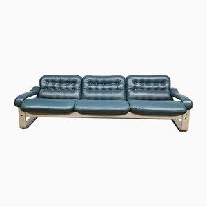 Vintage Three-Seater Leather Sofa