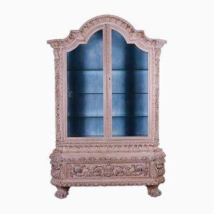 Italian Walnut Vitrine Display Cupboard
