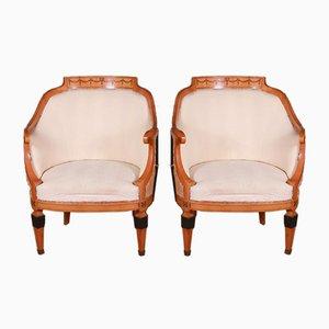Swedish Biedermeier Chairs, Set of 2
