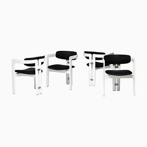 Pamplona Dining Chairs by Augusto Savini for Pozzi, Italy, 1965, Set of 4