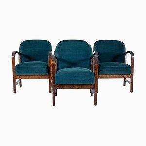 Finnische Mid-Century Armlehnstühle aus Birkenholz von Oy Stockmann AB, 4er Set
