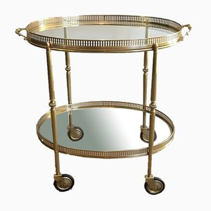 Neoclassical Style Brass Drinks Trolley, France, 1940