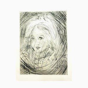 Gravure à l'Eau Forte Salvador Dali - Marguerite - 1969