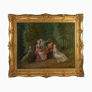 Öl auf Leinwand, Romantische Szene