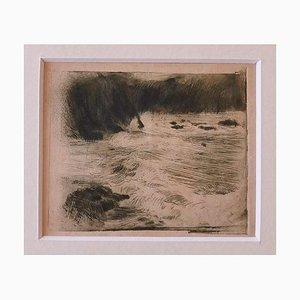 Adolf Hiremy, The Sea, Radierung, Frühes 20. Jahrhundert