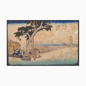 Utagawa Hiroshige, Fukuroi Dejaya No Zu, Holzschnitt, 1833