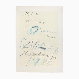 Cy Twombly, Untitled, Sarayevo, Lithograph and Aquatint Etching, 1984