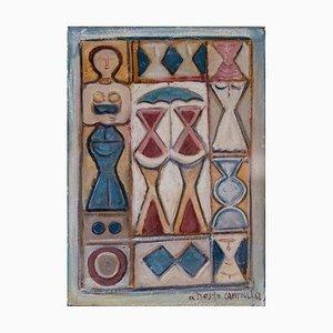 Massimo Campigli, Komposition, Öl auf Leinwand, 1968