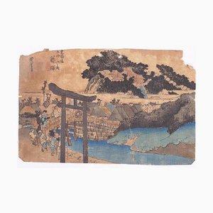 Utagawa Hiroshige, The Yugyô-Ji Tempel, Holzschnitt, 1833