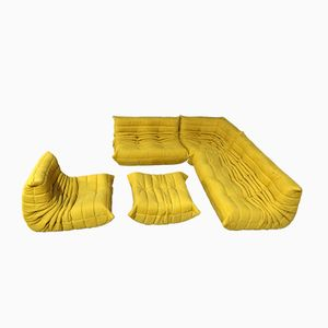 Vintage Yellow Togo Lounge Set by Michel Ducaroy for Ligne Roset, 1970s