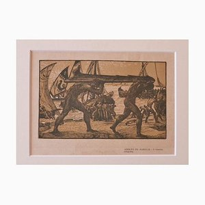 Adolfo De Karolis, The Rudder, Woodcut, 1925s