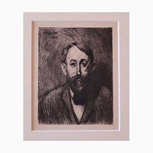 Théophile Alexandre Steinlen, Porträt, Radierung, 1914