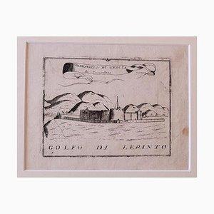 Golf von Lepanto, Radierung, 18. Jahrhundert
