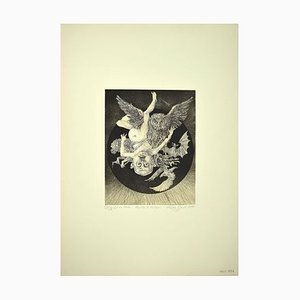 Leo Guida, Birth of the God Vulcan, Etching, 1975