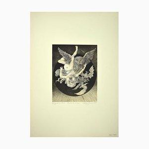 Leo Guida, Geburt des Gottes Vulkan, Radierung, 1975