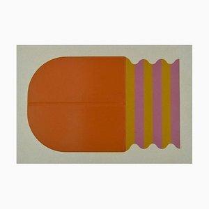 Shu Takahashi, Orange Curiosity, Mixed Media, 1973