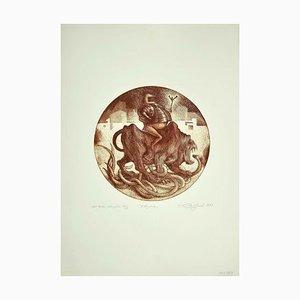 Leo Guida, Allegorie, Radierung, 1973