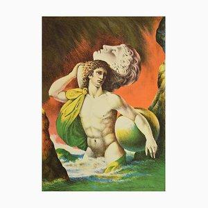 Carlo Maria Mariani, Mythology, Lithograph, 1986