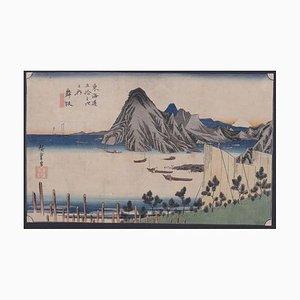 Utagawa Hiroshige, Maisaka, Imagiri Shink, Woodcut, 1833