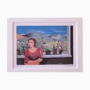 Purified Domenico, Woman and Panorama, Siebdruck, 1975