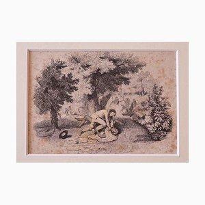 The Fight, Lithografie, 19. Jahrhundert