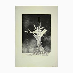 Leo Guida, Tree of Life, Etching, 1970s
