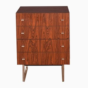 Rosewood & Chrome Chest of Drawers