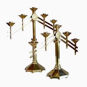 Kerzenständer aus Bronze, 2er Set
