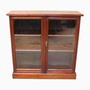Late Victorian Walnut Glazed Bookcase