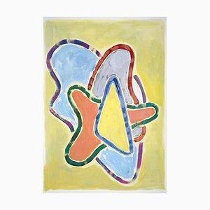 Natalia Roman, Pastel Abstract Heart, Gemälde, 2021