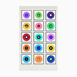 Vinyl Collection Fünfzehn Stück B Installation, Pop Art Farbfotografie, 2017
