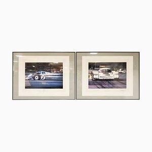 Stefan Bellof, Derek Bell and Jochen Mass Prints by Nicholas Watts, Set of 2