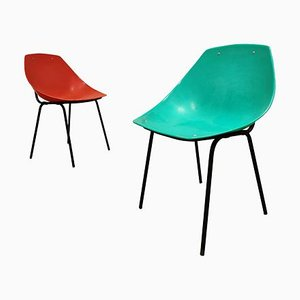 Vintage Shell Chairs by Pierre Guariche for Meurop, 1960s, Set of 2