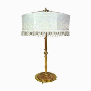 Art Deco Table Lamp in Brass and Copper, Sweden, 1930s