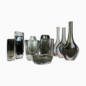 Mid-Century Vasen von Nils Landberg für Orrefors, Schweden, 12er Set